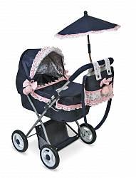 Коляска с сумкой и зонтиком Романтик, 65 см. (Decuevas Toys, 85014)