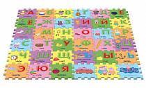 Коврик-пазл «Учим азбуку с Пеппой», 36 сегментов (Росмэн, 30128ros)